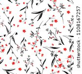 flowers pattern seamless ... | Shutterstock .eps vector #1108167257