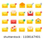 email envelope cover icons... | Shutterstock .eps vector #1108167401