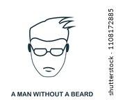 a man without a beard icon....