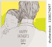 father huge her son in chest...   Shutterstock .eps vector #1108174097