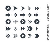 arrow icon vector set collection | Shutterstock .eps vector #1108174394