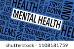 mental health words background | Shutterstock .eps vector #1108181759