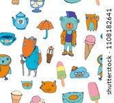 seamless vector pattern with... | Shutterstock .eps vector #1108182641