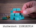 Ethics Business Concept With...