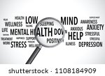 mental health words background... | Shutterstock .eps vector #1108184909