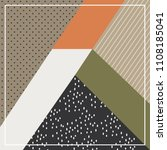 scarf pattern with chic modern... | Shutterstock .eps vector #1108185041