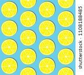 abstract lemon slice seamless... | Shutterstock .eps vector #1108188485