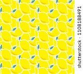 abstract lemon seamless vector... | Shutterstock .eps vector #1108188491