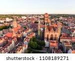 aerial gdansk old town skyline... | Shutterstock . vector #1108189271