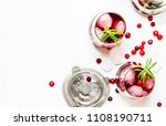 cranberry cocktail with ice ... | Shutterstock . vector #1108190711