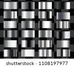 set of silver foil texture...   Shutterstock .eps vector #1108197977