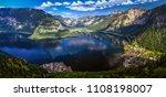 beautiful panorama of hallst... | Shutterstock . vector #1108198007