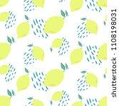 abstract lemon slice seamless... | Shutterstock .eps vector #1108198031
