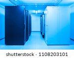 network server room with racks   Shutterstock . vector #1108203101