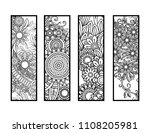 set of four bookmarks in black...   Shutterstock .eps vector #1108205981