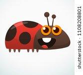 cute cartoon ladybug. vector...   Shutterstock .eps vector #1108208801