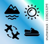 vector icon set about travel... | Shutterstock .eps vector #1108213295