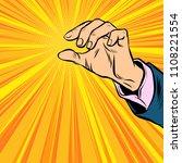 mens hand holding. pop art... | Shutterstock .eps vector #1108221554