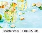 tropical drink   pineapple... | Shutterstock . vector #1108227281