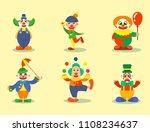 clown vector circus man... | Shutterstock .eps vector #1108234637