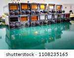 Small photo of ADF control unit ,Avionics equipment in aircraft with maintenance.