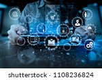 e learning with connected gear... | Shutterstock . vector #1108236824