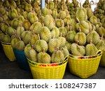 durian  famous fruit in... | Shutterstock . vector #1108247387