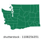 map of washington | Shutterstock .eps vector #1108256351
