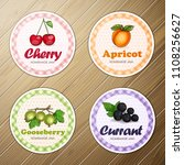 vector set of four round labels ... | Shutterstock .eps vector #1108256627