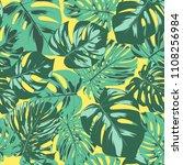 seamless tropical pattern.... | Shutterstock .eps vector #1108256984