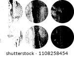 set of grunge textures in black ... | Shutterstock .eps vector #1108258454