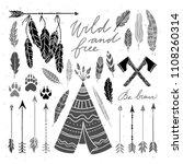 ethnic indian elements... | Shutterstock .eps vector #1108260314