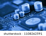 electronic circuit board close... | Shutterstock . vector #1108262591