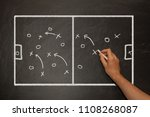 coach showing football tactics... | Shutterstock . vector #1108268087