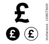 pound icon set.vector... | Shutterstock .eps vector #1108273634