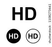 hd icon set.vector illustration | Shutterstock .eps vector #1108273661