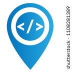 code sign and map pointer | Shutterstock .eps vector #1108281389