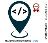 code sign and map pointer | Shutterstock .eps vector #1108281419