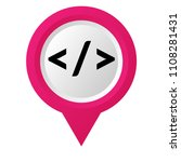 code sign and map pointer | Shutterstock .eps vector #1108281431