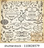 vector set of calligraphic... | Shutterstock .eps vector #110828579