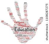 vector conceptual education ... | Shutterstock .eps vector #1108287275