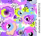seamless pattern for girls.... | Shutterstock .eps vector #1108292711