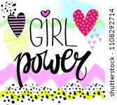 girl power to print t shirts.... | Shutterstock .eps vector #1108292714
