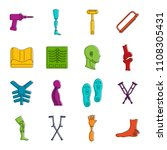 orthopedics prosthetics icons... | Shutterstock . vector #1108305431