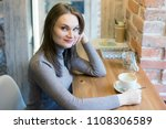 beautiful blonde happy young...   Shutterstock . vector #1108306589