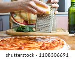 the chef in black apron makes...   Shutterstock . vector #1108306691