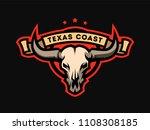 bull skull emblem  logo  symbol.   Shutterstock . vector #1108308185