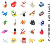 discover icons set. isometric...   Shutterstock . vector #1108311335