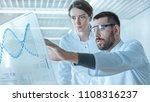 in the futuristic laboratory...   Shutterstock . vector #1108316237