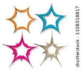 set of doodle hand drawn star... | Shutterstock .eps vector #1108318817